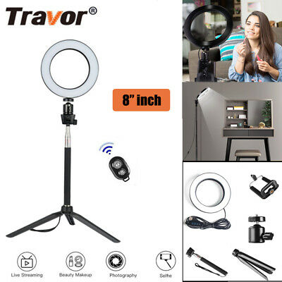 AU STOCK Dimmable 8 INCH 5500K LED Ring Light For Video Photo With Light Stand