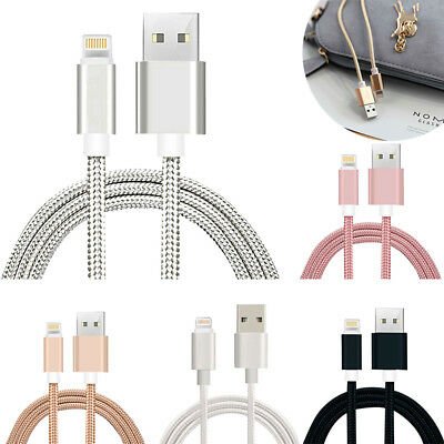 3pcs 1M 2M USB Cable Lightning Charging Data Charger for IOS iPhone X 8 7 6 PLUS