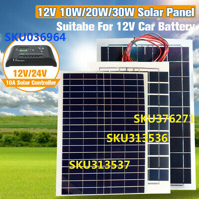 10W/20W/30W 12V Semi Flexible Solar Panel Battery Charger Off Grid