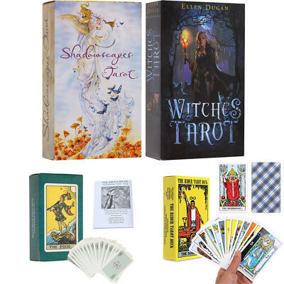 Tarot Cards Deck Vintage Colorful Box Shadowscapes Witches Telling Game 78pc/set