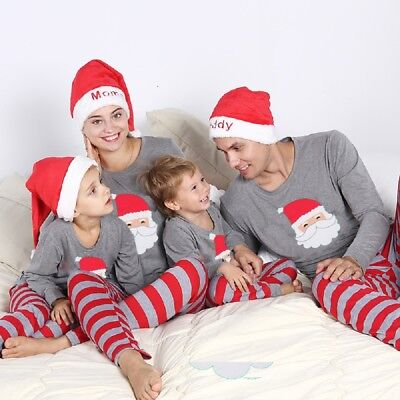 AU CANIS Christmas Family Match Pajamas PJs Set Xmas Santa Sleepwear Nightwear