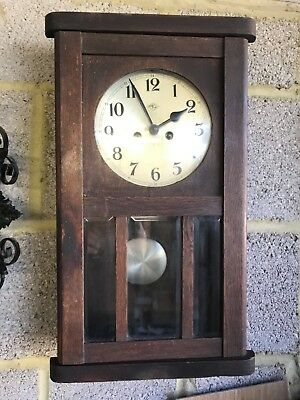 antique edwardian long case wall clock