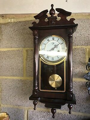 vintage 31 day long case wall clock working