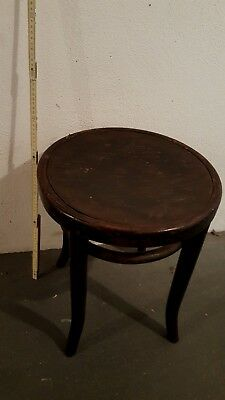 Antik Thonet Hocker aus Holz