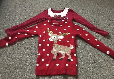 Girls Christmas Clothes Bundle 7/8 Years Old