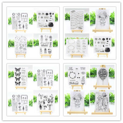 20Styles Transparent Silicone Clear Stamp Seal Scrapbook Embossing Album Craft