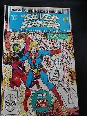 The Silver Surfer 'The Evolutionary War'  No 1 Super sized Annual. 64 pages