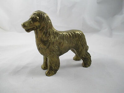 """Highly Detailed BRASS AFGHAN HOUND DOG SOLID BRASS  4 1/2 """", LOVELY!"""