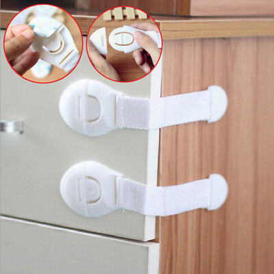 10/20Pcs Baby Safety Locks Child Kid Security Furniture Latche for Drawer Cabine