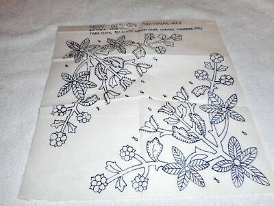 Vintage Embroidery Iron on Transfer- New Design No.A6 - Jacobean Style Flowers