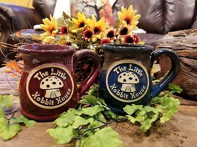 "Set of 2 Custom ""The Little Hobbit House"" Deneen Pottery Coffee Mugs"