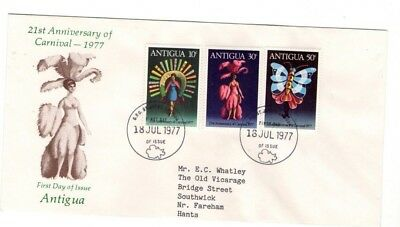 1977 ANTIGUA - CARNIVAL 21st ANNIVERSARY FDC FROM COLLECTION K16