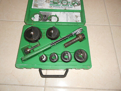 """Greenlee 7238 Sb Knockout Punch Set 1/2"""" To 2"""" Slug Buster Punches"""