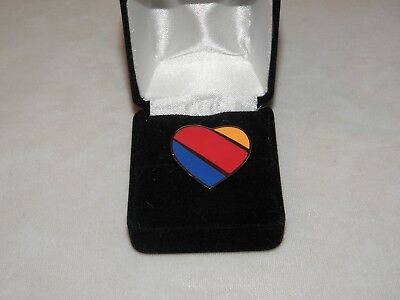 Southwest Airlines Logo Lapel Tack Pin Airplane Pilot Christmas Collector Gift