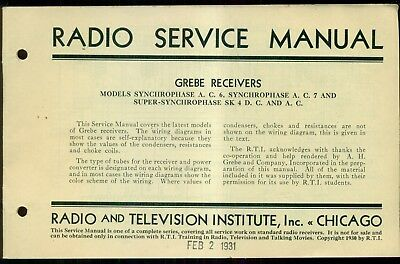 Huge Zenith Radio Phonograph Service Shop Manual Cd 1200. 1931 Grebe Receivers Radio Service Manual Television Institute. Wiring. Zenith 5g03 Wiring Diagram At Scoala.co
