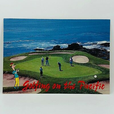 Postcard California Golfing on the Pacific Monterey Peninsula 4x6 - Unused C-49d