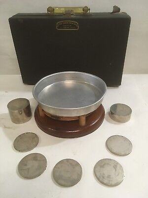 VINTAGE  SCALE CALIBRATION WEIGHTS PARTS Set in Case (E76)