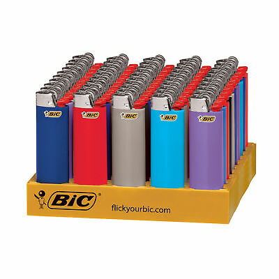 BIC Classic Lighter, Assorted Colors, 50-Count Tray, Free 2-Day Express Shipping
