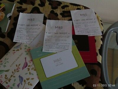 Marks and Spencer gift cards to value of £155