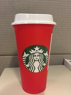 NEW Starbucks Red Reusable 16 Oz Christmas Holiday Discount Cup 2018 Limited Ed.