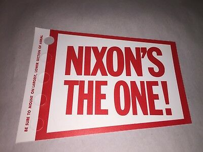 RARE NIXON'S THE ONE!   Car or Truck Antenna / Aerial Flag Flyer