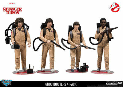 "McFarlane Toys 7"" Stranger Things TV Series - Ghostbusters Deluxe 4 Pack"