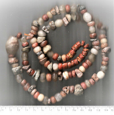 "Ancient ""Neolithic"" West African Stone Beads Quartz 31 inches WEARABLE!"