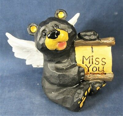 Bear Angel w// Message /'I Love You/' Table top Wild life Home Decor C