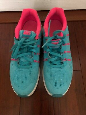 ebe55645c1 Pre Owned NIKE Air Max Dynasty GS Athletic Shoes Girls Sz5 Blue Pink 820270  401