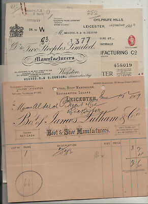 Leicester  Clothing  Manufacturers  Invoices.