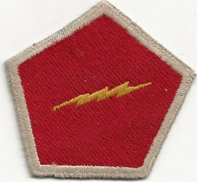 """Rare Original Wwii/kw """"5Th Rct With Lightning Bolt"""" Patch - Fully Emb"""