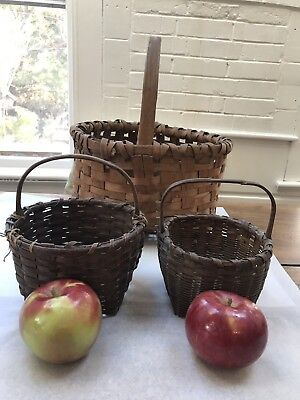 Lot of 13 Antique & Vintage Baskets, Nice Collection of Egg baskets + More
