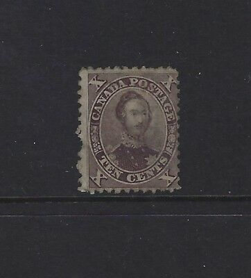 CANADA - #17a - 10c PRINCE ALBERT USED STAMP (1859)