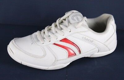 9a31720af2dbff Chasse Ace Flip IV cheer shoes white youth kids pu upper size 4