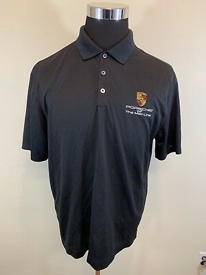 Porsche Of The Main Line Nike Golf RDS Polo Black Size Large L