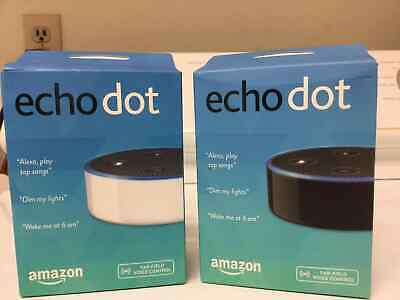 New Amazon Echo Dot 2nd Generation w/ Alexa Voice Media Device black white