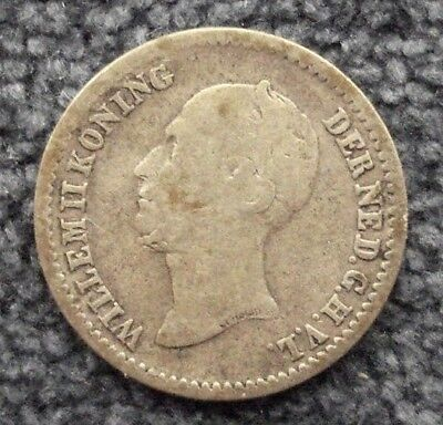 1849 Netherlands - 10 Cents - Willem II - Silver Coin - 6066