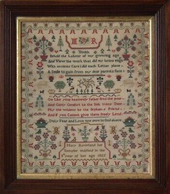 Antique Sampler, 1825, by Mary Rowland