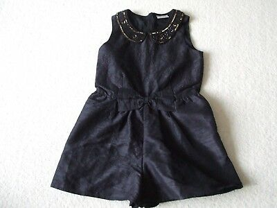 Girls Next Party Playsuit - Age 8 - Black