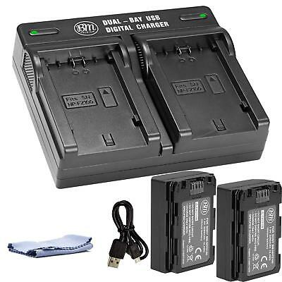 BM Premium Battery (2-Pack) and Dual Charger for Sony NP-FZ100