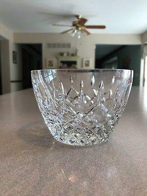 """LENOX """"Mystic"""" Crystal bowl 3-1/4 in tall in EUC--matching vases also available!"""