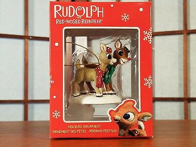 Enesco Rudolph the Red Nosed Reindeer Holiday Ornament- RUDOLPH & CLARICE - NIB