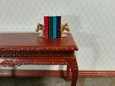 Miniature 1:12 Scale Gold Eagle Bookends with Books