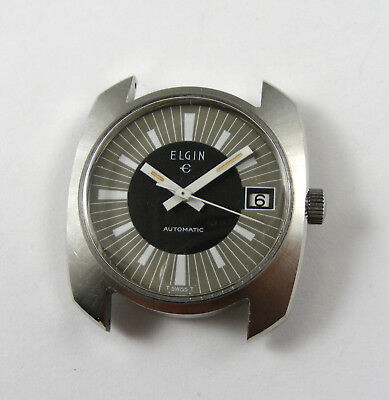 Elgin Gents Automatic Stainless Steel Vintage 1960's Diver's Wristwatch