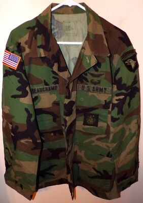 ORIGINAL US ARMY BDU COMBAT UNIFORM COAT - LARGE/REGULAR - 101st AIRBORNE
