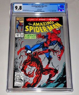 Amazing Spider-Man 361 CGC 9.8 White Pages 1st Carnage 2nd Print Silver Variant