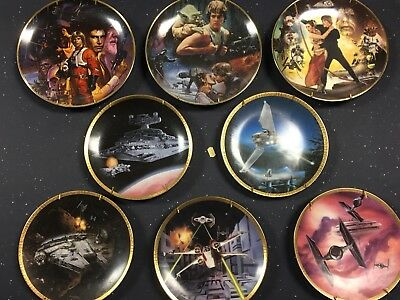 vintage The Hamilton collection Star Wars 8x plate lot collection