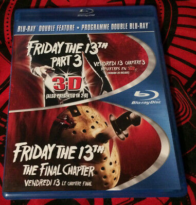 Friday the 13th Part 3 and Friday the 13th: The Final Chapter blu-ray used blu