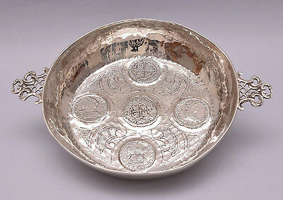 Solid Silver Bowl Decorated With Coins