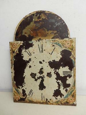 REALLY OLD GRANDFATHER CLOCK FACE antique  clock face